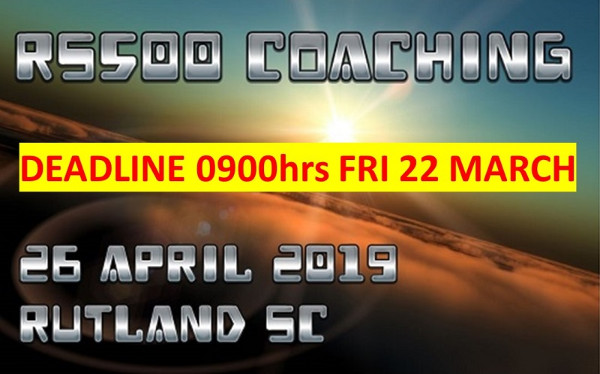 More information on WE NEED YOU TO SIGN UP to RS500 coaching Fri 26 April